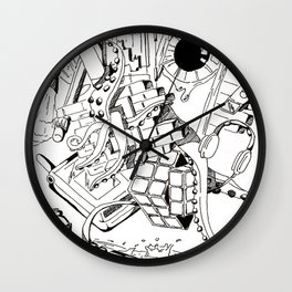 Collage of Thoughts Wall Clock