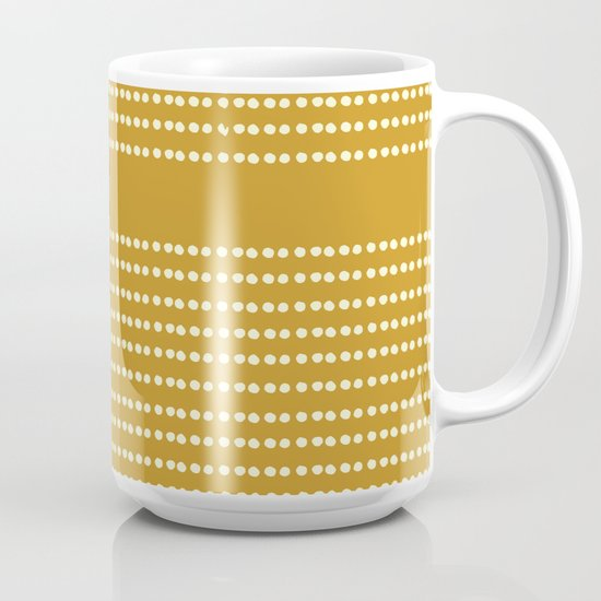 Mustard Yellow Carved Hibiscus Mug