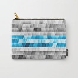 Blue Stripe Geometric Pattern Carry-All Pouch