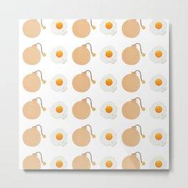 Egg Bomb Metal Print