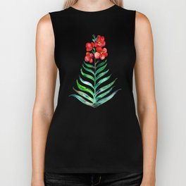 Blooming Orchid – Red & Green Palette Biker Tank