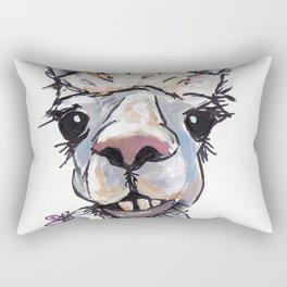 Alpaca Art, Diesel the Alpaca Rectangular Pillow