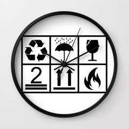 Box Pictogram Icons Wall Clock