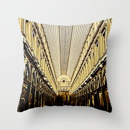 Galeries Royales Saint-Hubert in Brusseles Throw Pillow