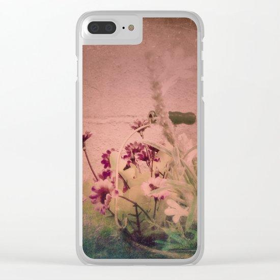 Floral Joy Clear iPhone Case