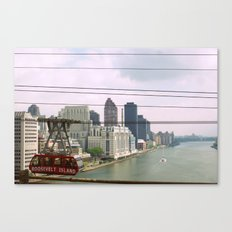 Roosevelt Island Tramway Passing By, New York City Canvas Print