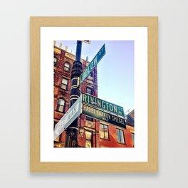 Ludlow and Rivington, Lower East Side Manhattan Framed Art Print