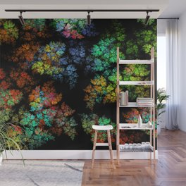 Leaves - fractal art Wall Mural