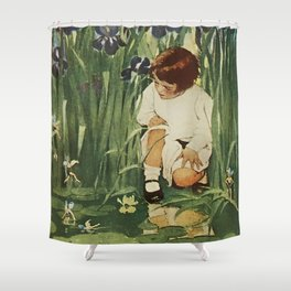 """The Fairies Picnic"" by Jessie Willcox Smith Shower Curtain"