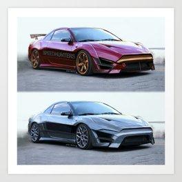 Mitsubishi Eclipse Artrace custom. Art Print