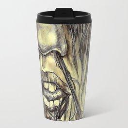 hair locked face. Travel Mug
