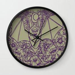 Bats, Flowers, Figs and Moths Wall Clock