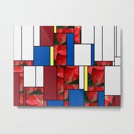 Mottled Red Poinsettia 1 Ephemeral Art Rectangles 4 Metal Print