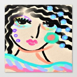 Party Girl Abstract Digital Painting Canvas Print