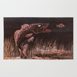 Trout Attack In Brown Rug