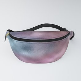 Mottled Ombre Blue Purple Foil Fanny Pack