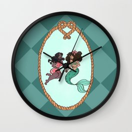Mermaid Crush Wall Clock