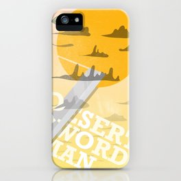 Desert Swordsman iPhone Case