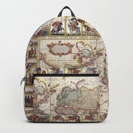 1652 Map of the World, Doncker Sea Atlas World Map Backpack