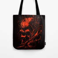 vader Tote Bags featuring VADER by nicebleed