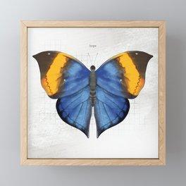 hope: dead leaf butterfly Framed Mini Art Print