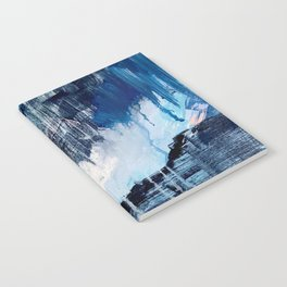 Vibes: an abstract mixed media piece in blues and pinks by Alyssa Hamilton Art Notebook