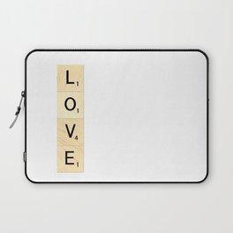 LOVE - Vertical Scrabble Letter Tiles Art Laptop Sleeve