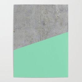 Concrete and Sea Color Poster