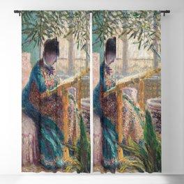 Claude Monet - Madame Monet Embroidering Blackout Curtain