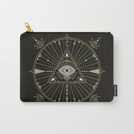 Evil Eye Mandala – Black Carry-All Pouch