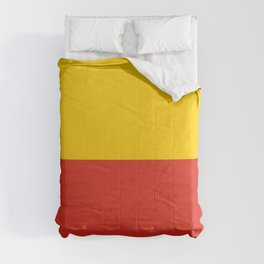 flag of warsaw Comforters