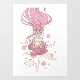 born from a rose Art Print