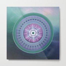 Breakthrough - Mandala Metal Print