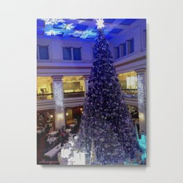 The Marshall Field Tree Lives! (Chicago Christmas/Holiday Collection) Metal Print