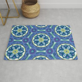 Watercolor Medallion Pattern Rug
