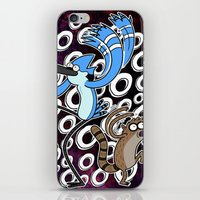 regular show iPhone & iPod Skins featuring Regular Show OOOOH! by Metal_Sonic