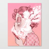 writer Canvas Prints featuring AIR WRITER by Isa Ibaibarriaga