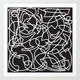 Jolly Clips (Black) Art Print