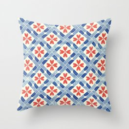 Mediterranean Mosaic Throw Pillow