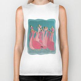 Pink flamingos Biker Tank