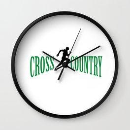 Cross country Wall Clock