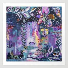 Winter Wish Original Painting by Flora Bowley Art Print