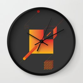 Geometric Composition 9 Wall Clock
