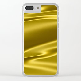 Gold satin texture Clear iPhone Case