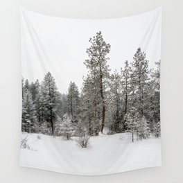 snowy trees Wall Tapestry