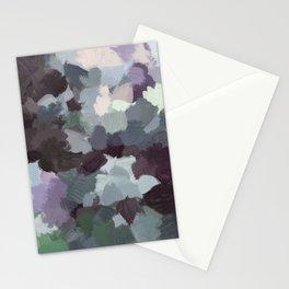 Dark Green Lilac Purple Gray Black Abstract Wall Art, Painting Art, Modern Wall Art Stationery Cards