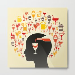 Alcohol a head Metal Print