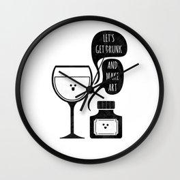 Drink & Draw Wall Clock
