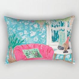 Pink Tub Chair Rectangular Pillow