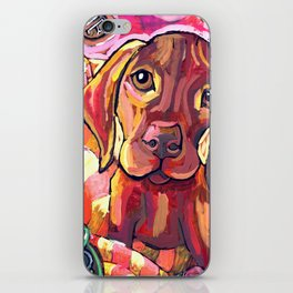 Dog with Shoes iPhone Skin